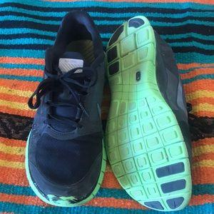 Lime Green and Black Nike Freerun 3 Men's 8.5